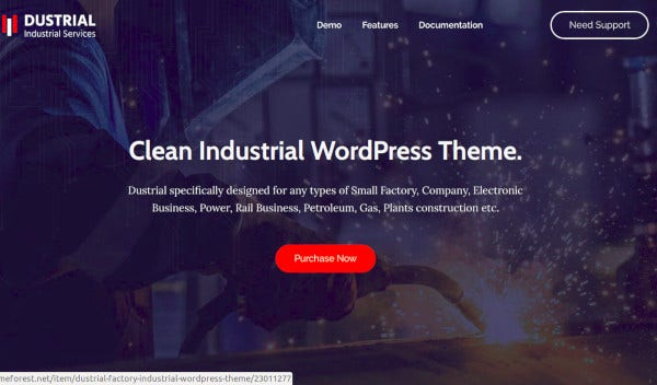 factory industrial wordpress theme