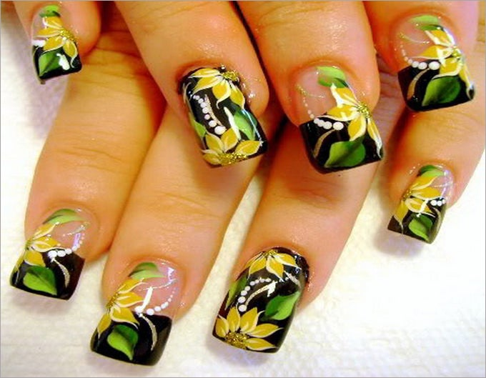 fall french nail design