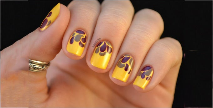 fall nail art at home