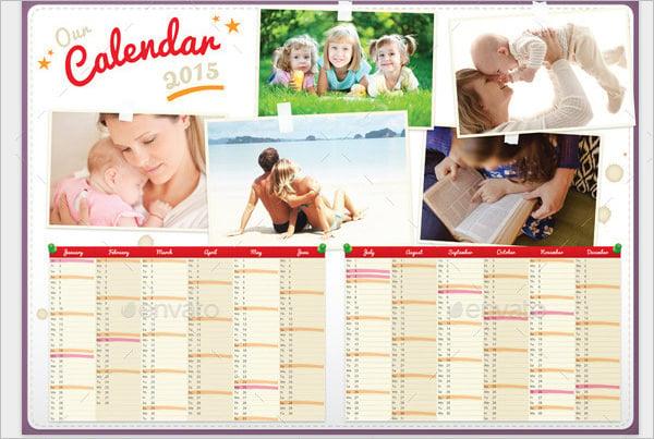 family calendar template 2015