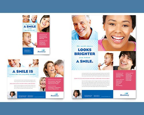 family dentistry word flyer template