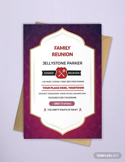 family dinner reunion invitation1