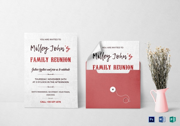 Family Reunion Invitation Card Template  Family Reunion Invitation Cards