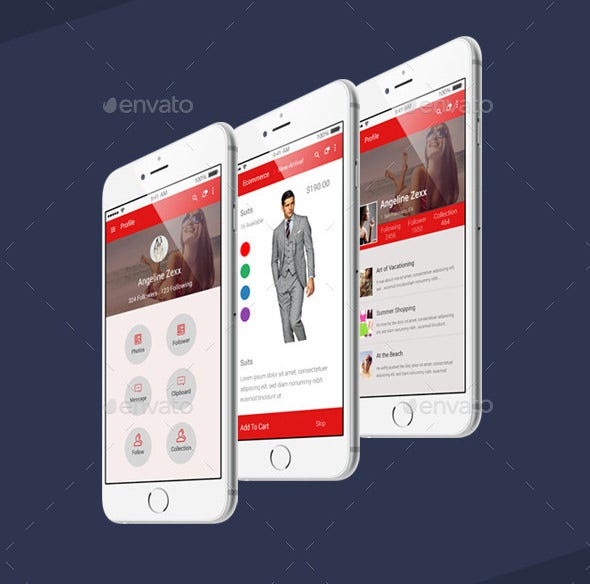 fashion ui psd templates