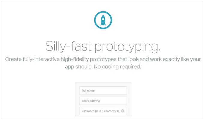 fast prototyping ux design tool