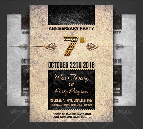 fentastic anniversary invitation template