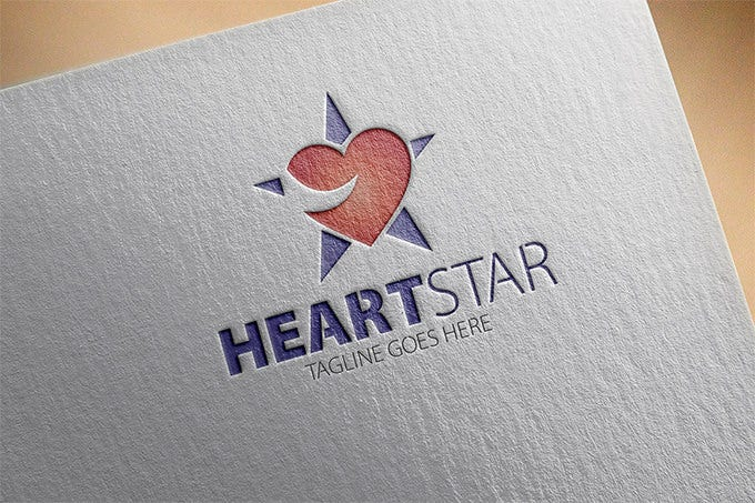 fentastic heartstar star logo