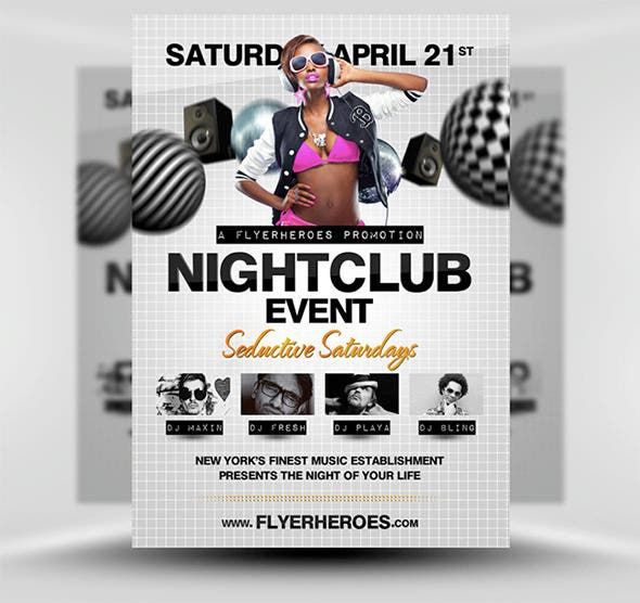 fentastic night club flyer template