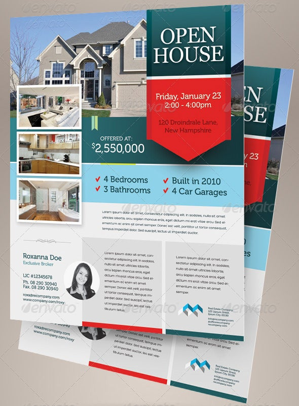 Template Open House Flyer . Business ...  Open House Flyer Template