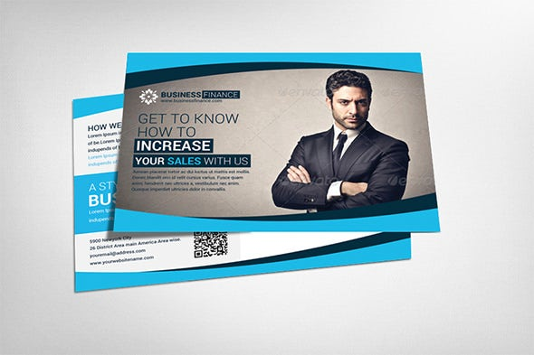 finance postcard flyer template