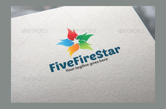 five fire star logo