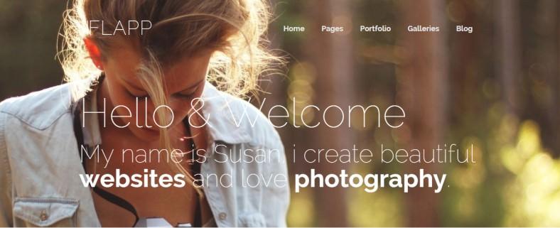 Professional Online vCard WordPress Theme