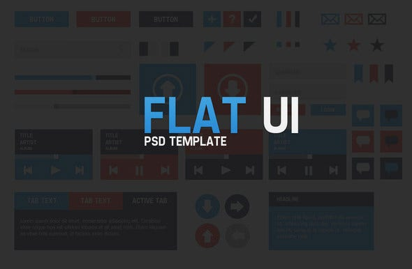 flat ui psd downloads