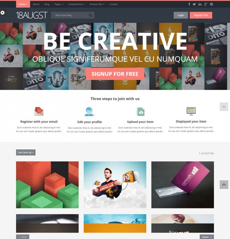 20+ HTML Gallery Website Templates & Themes | Free & Premium ...