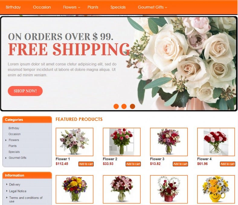 floral shop joomla theme 788x679