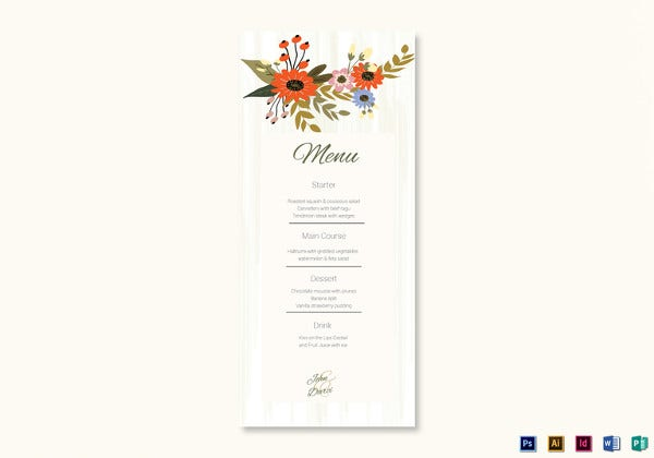 floral-wedding-menu-card