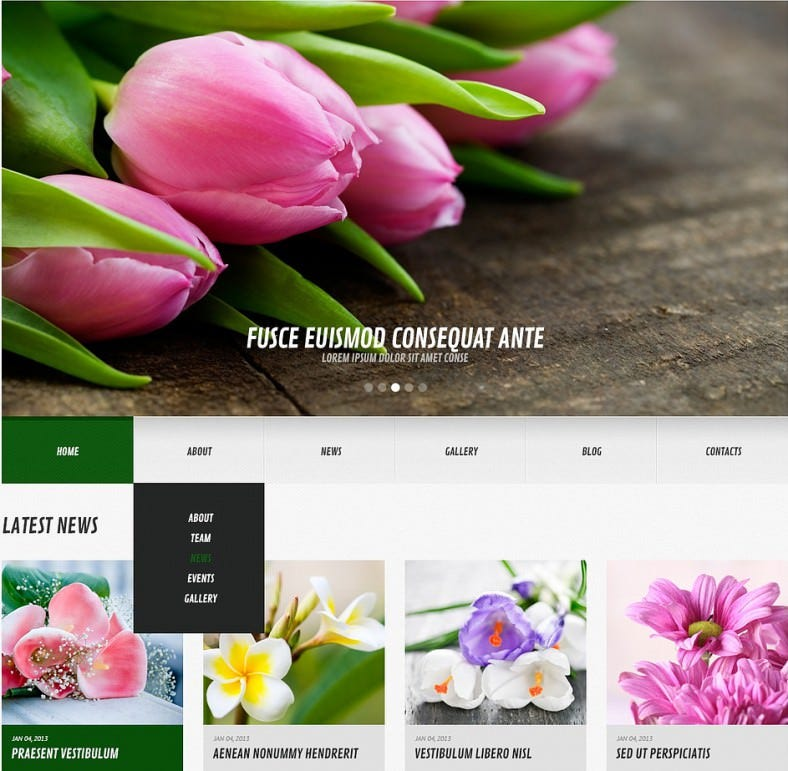 cms templates wordpress templates florists wordpress theme
