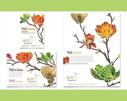 flower shop word flyer template