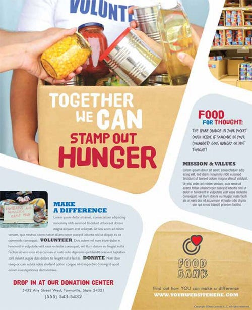 Food Bank Word Flyer Template  Free Flyer Templates Word