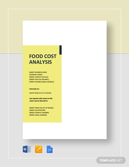 food cost analysis template1