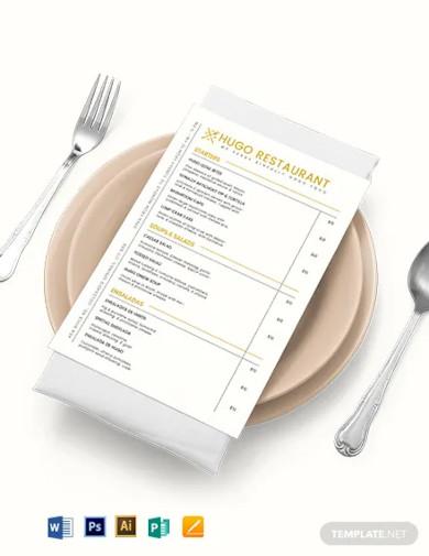 food menu board template1