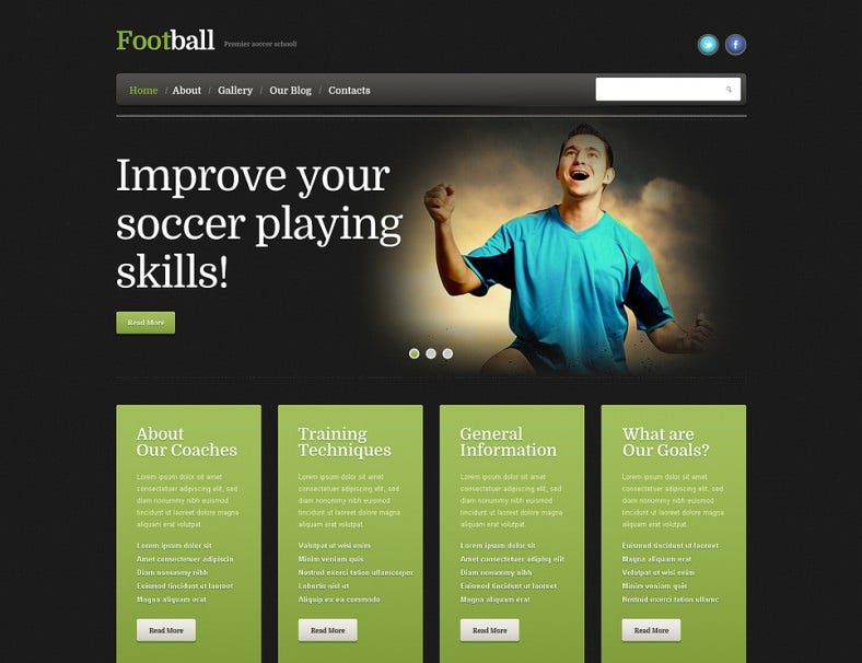 Football Responsive WordPress Theme