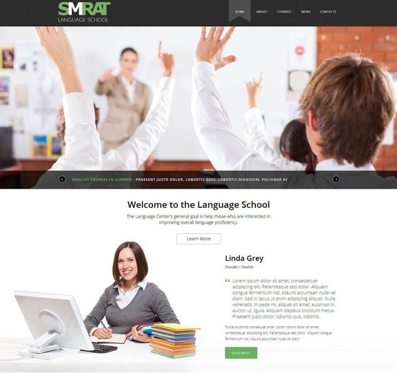 foreign language teaching joomla template 788x741