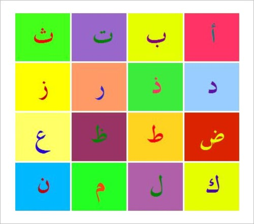 23+ Arabic Alphabet Letters to Download - PSD, PDF | Free