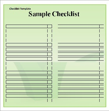 blank numbered list template