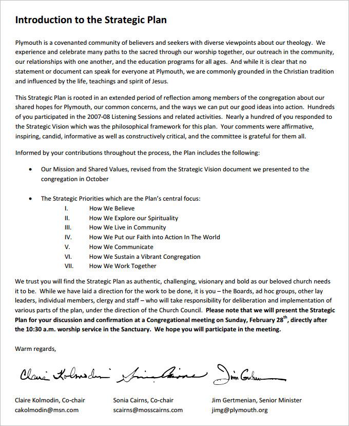strategic document template