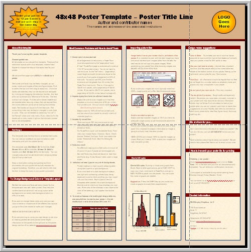 poster template for word
