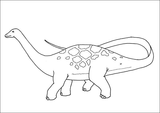 free dinosaur coloring page