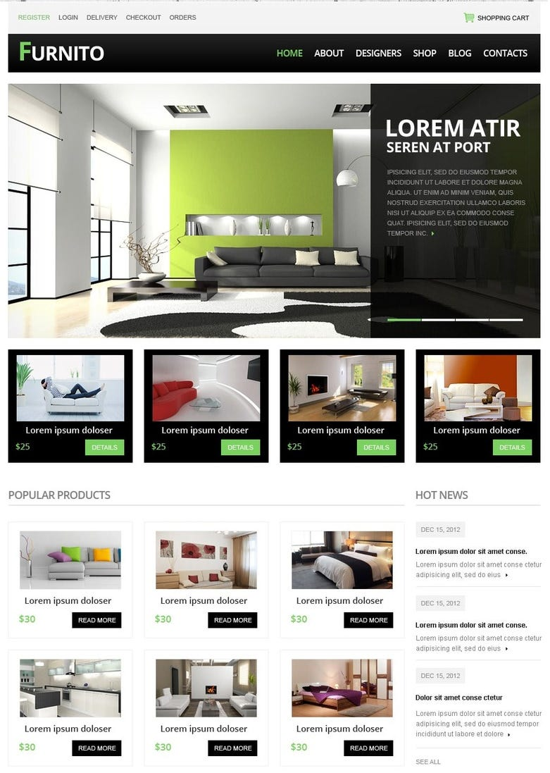 Free Ecommerce Website Templates | Free & Premium Templates