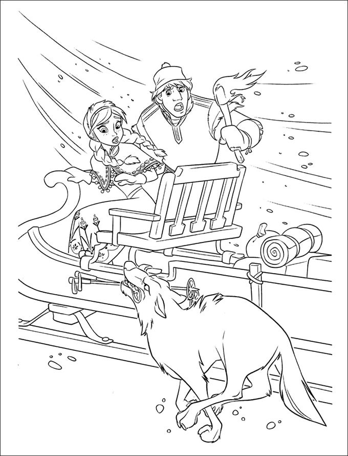 Download This Free Frozen Coloring Page And Give It The Colors Of Your Choice To Recreate Memory Fun Filled Animated Movie