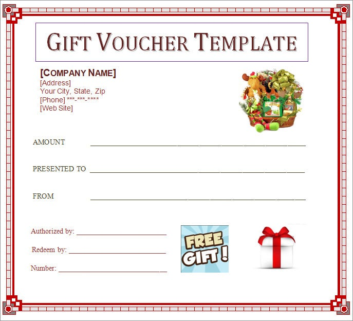 Gift Voucher Template Word Birth Certificate Template Free