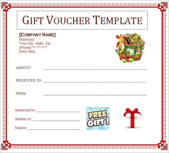 Blank Gift Voucher Template Gift Voucher Template Word