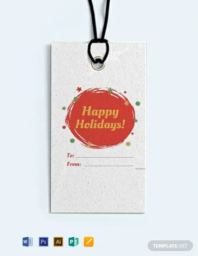 free holiday label template1