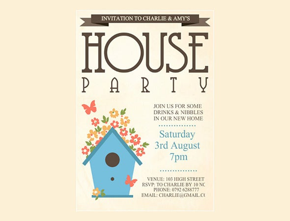 Housewarming Invitation Message with perfect invitations layout