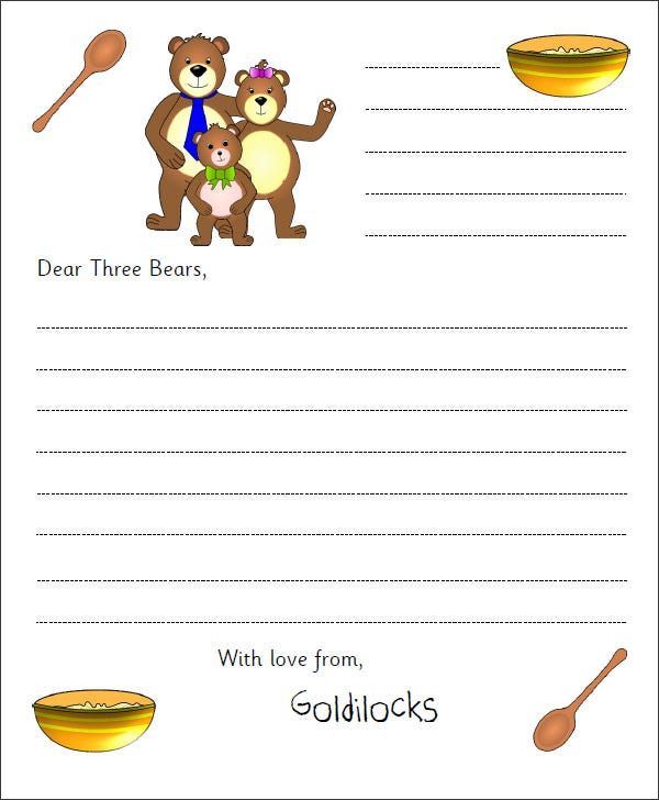 free kids letter template pdf - Free Templates For Kids