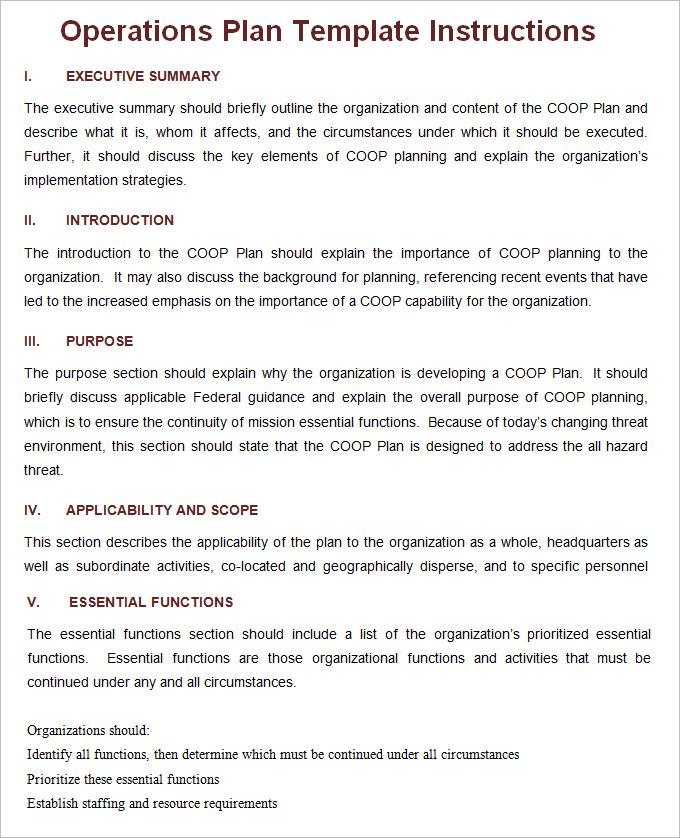 operational plan business plan