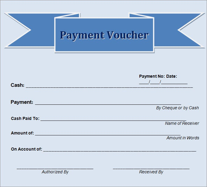 Blank Voucher Template Voucher Templates – Cash Voucher Template