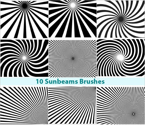 free photoshop sunbeam brushes