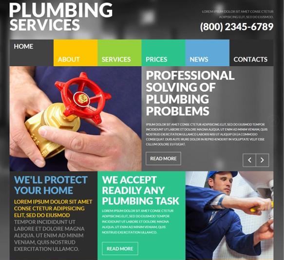 free plumbing joomla template1
