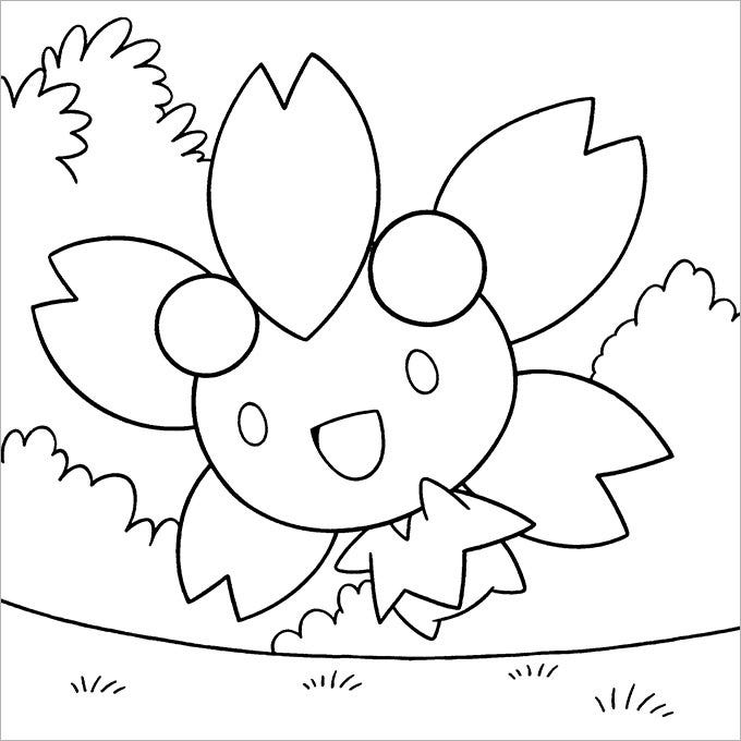 free pokemon coloring page