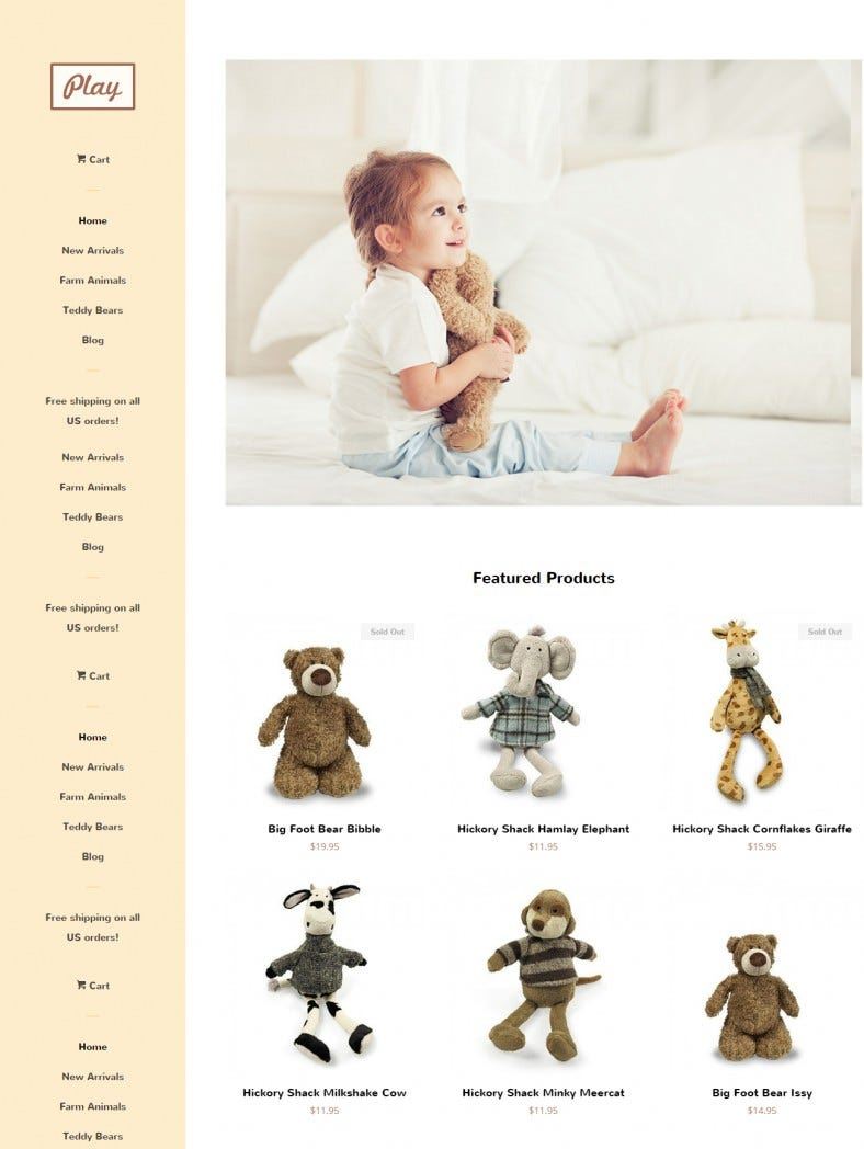 free pop ecommerce website template 788x1048