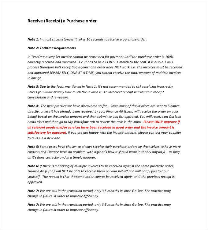 no purchase order no payment letter template  53  Purchase Order Examples - PDF, DOC | Free