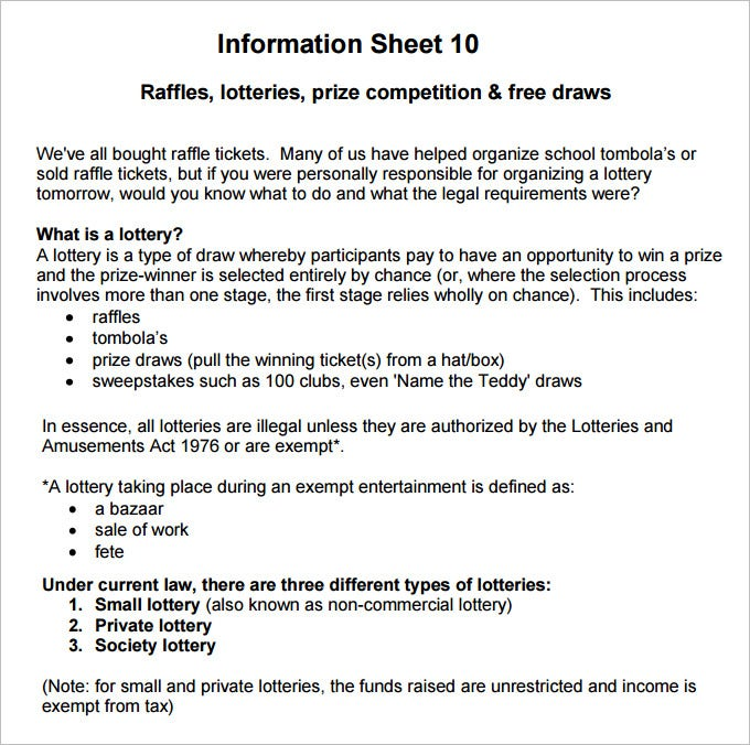 Raffle Sheet Template   Free Pdf Documents Download  Free