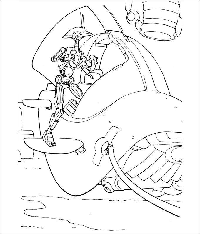 free star wars coloring page