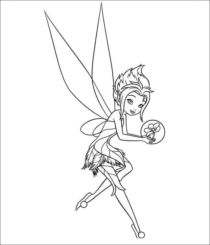baby tinkerbell coloring pages - photo#15