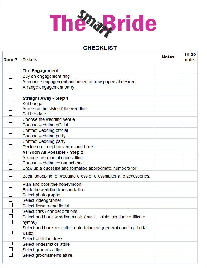 wedding checklist templates - Radiocaffefm.com